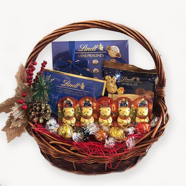 подаръчна кошница коледно сияние