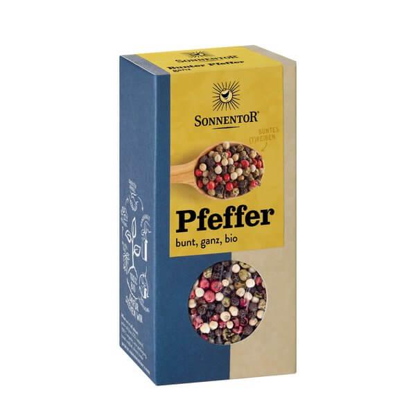 Био Пипер на зърна микс: бял, черен, розов, зелен Sonnentor 25 g