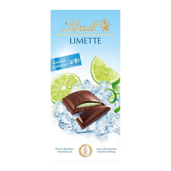 Млечен шоколад Lindt пълнеж от лайм 150 г