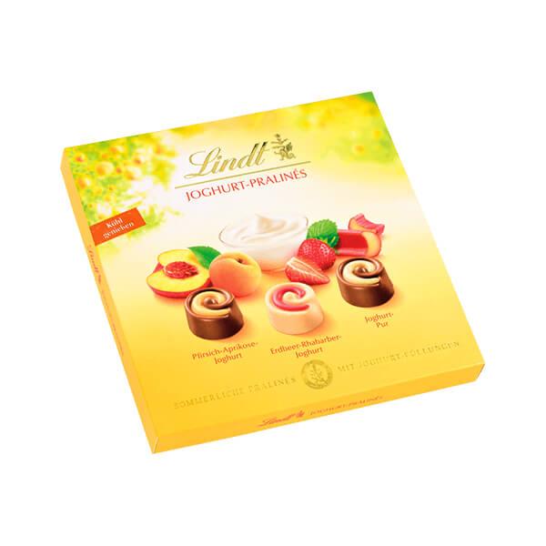 Шоколадова бонбонира Lindt плодов йогурт 145 г