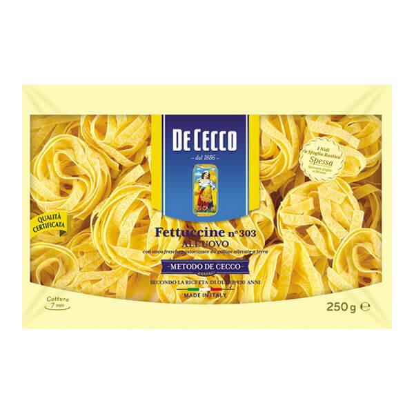 Фетучини de cecco с яйца 250 г