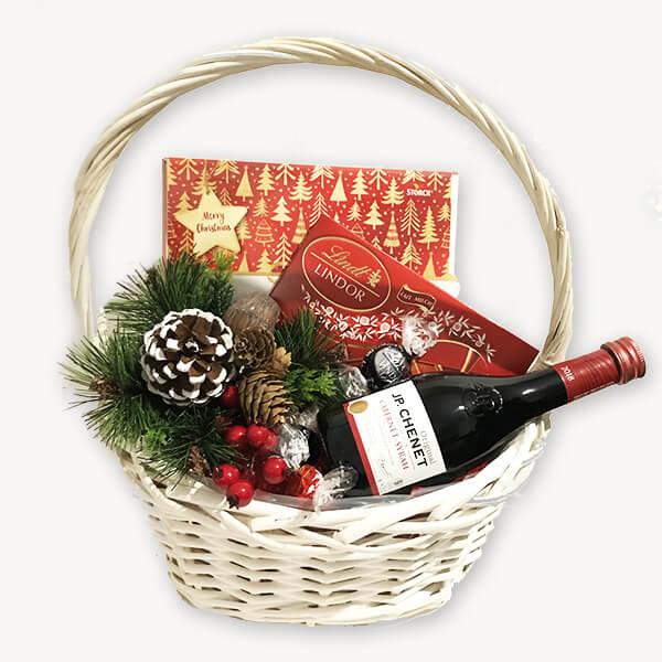 Коледна подаръчна кошница 192