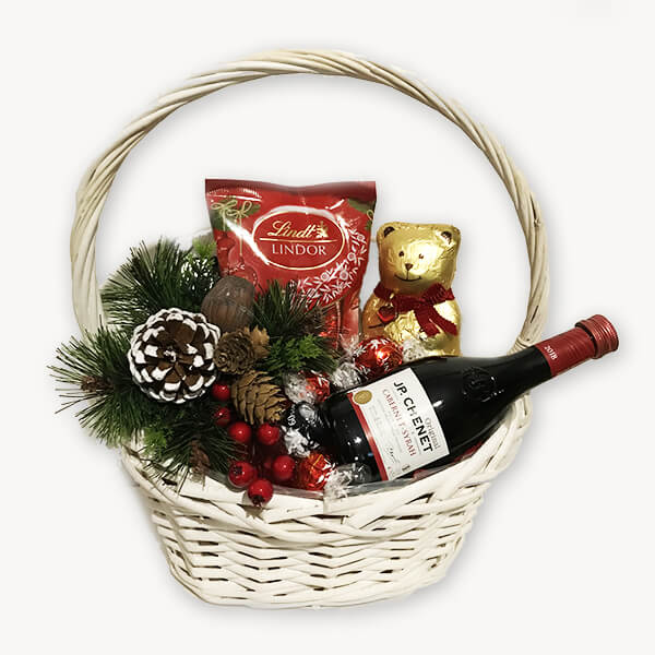 Коледна подаръчна кошница 193