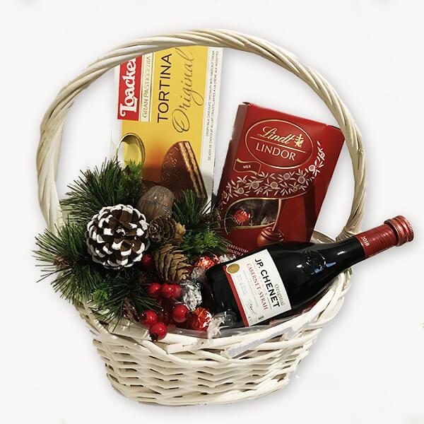 Коледна подаръчна кошница 194