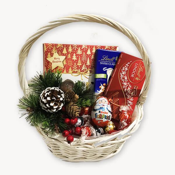 Коледна подаръчна кошница 196