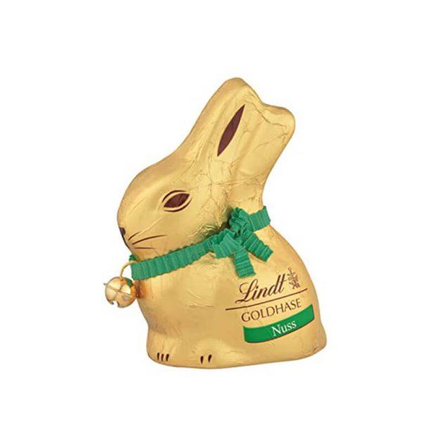 Линдт великденски шоколадов заек с лешници 100 г